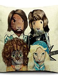 Animal Band Cotton/Linen Decorative Pillow Cover