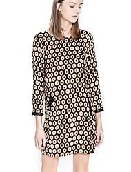 Fengzhe Women's 9/10 Sleeve Polka Dots Sheath Dress