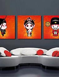 Impressão em tela esticada art cartoon chinês conjunto da ópera de Beijing, de 3 de