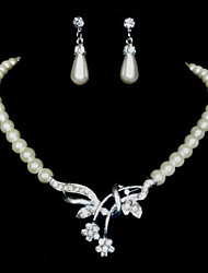 Women's Pearl/Alloy/Rhinestone Jewelry Set Rhinestone