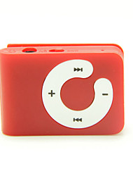 Mini-Clip-Plug-in Micro-SD-Karte TF Card Reader MP3-Player - matt-rot