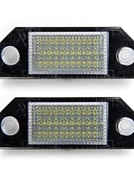 Car Number License Plate Lamps White 24 LED Lights Bulbs for Ford Focus 2 C-Max