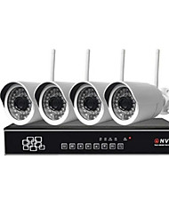 Sinocam® 4CH 1.3MP 1280*960 WIFI IP Camera System NVR Kits Max 40M WIFI Distance