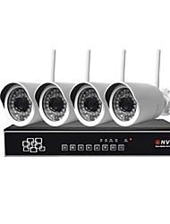 sinocam® 1.3MP 4ch 1280 * 960 wi-fi kits NVR ip sistema de câmera max 40m distância wi-fi