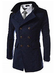 G&Y Fashion Stand Collar Coat (Black,Gray,Blue)
