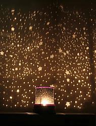 cielo stellato del proiettore colorato luce di notte led (colore casuale, alimentato da 3 batterie AA)