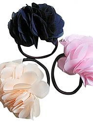 Sweet Daisy Flower Chiffon Hair Ties Random Color