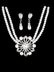 Schmuck-Set Damen Hochzeit / Party / Alltag Schmuck-Set Perle / Legierung Halsketten / Ohrringe Silber