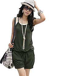 Women's Strap Drawstring Shorts Leisure Jumpsuits