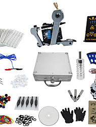 1 Gun Complete No Ink Tattoo Kit with Wrench Shaped Tatoo Machine For Liner and Ep-2 Power (Contain a Suitcase)