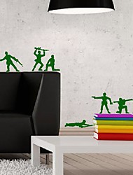 Wall Stickers Wall Decals, Modern Rank-and-file soldiers PVC Wall Stickers