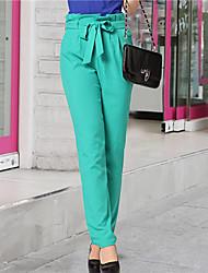 eleganti pantaloni harem retrò delle donne zyqy (verde)