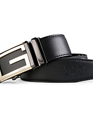 PGM Men's Leather Alloy Automatic Agio Black Golf Belt