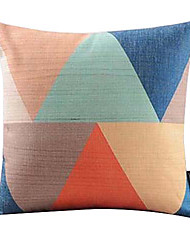 Несколько цвета треугольник связан хлопок / лен декоративная наволочка