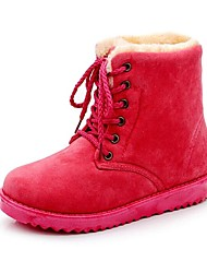 Women's Fall / Winter Comfort / Snow Boots Faux Fur Casual Flat Heel Lace-up Yellow / Green / Red