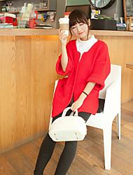 casual couleur solide à long tricot des femmes une Xuan