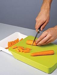 cortar e recolher tábua de plástico, 11.8x8.7x1.6cm
