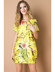 TS European Print Simplicity Dress