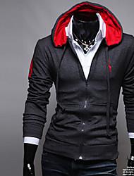 homens Fengge Hoodie bordado casaco casuais