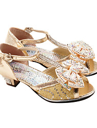Sandales ( Or ) - Simili Cuir - Bout ouvert/Mary Jane