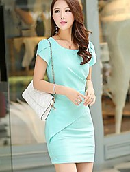 Women's Pleated Waist Bodycon Dress