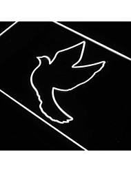 j339 palomas palomas decoración signo de la paz luz neón noche