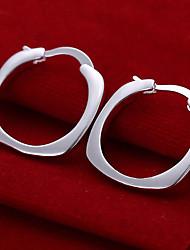 quadrado círculo brincos de prata placa de mulheres vivas