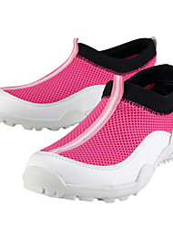 PGM Women's Microfiber Leather+Rubber Sole White+Green Waterproof Breathable Mesh Golf Shoes