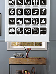 Modern Chic 25 Cube Icons Roller Shade