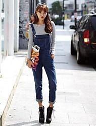Women's Street Style Denim Overalls Harem Pants