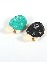 creatieve kleine schildpad rubber (2 stuks)