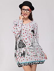 Yedda Women's Casual Pattern Loose Knitwear(Random Sleeve Pattern)