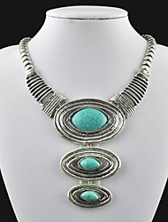 Jewelry Statement Necklaces Party / Daily Alloy Women Green Wedding Gifts