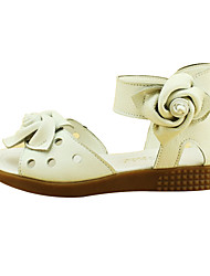 Sandales ( Blanc ) - Cuir - Bout ouvert/Mary Jane