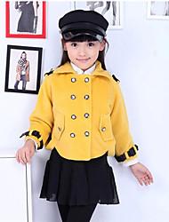 bb&sólida casaco de manga morcego cor do k garoto (amarelo)