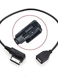 0,2 m masculin aux médias des femmes dans ami mdi usb câble adaptateur aux lecteur flash pour la voiture vw audi a4 2014 a6 Q5 Q7