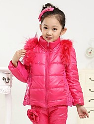 Winter Casual Down Cotton Clothing Sets T shirt + Vest + Pants Sets for Girls