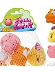 Brinquedo do banho do teste padrão temático-fazenda 4 pack para o bebê brincar no banho Squirters Peluches