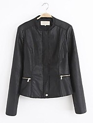 Women's Side Zipper Leather Clothing Outerwear