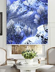 huile style de peinture réaliste neige montagne&pin rouleau ombre