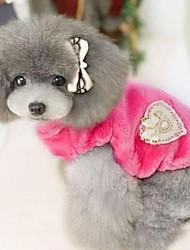 moda para mascotas precioso abrigo caliente dulce (una variedad de colores, tamaños)