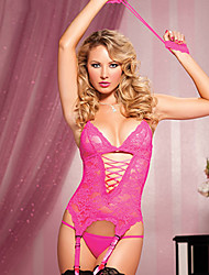 Hotty baby Women's Sexy Cut Out Sheer Gartered Lingerie