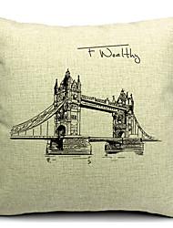 Wonderful Architecture Cotton/Linen Decorative Pillow Cover