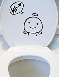 Cartoon Animal Toilet Posted Toilet Sticker