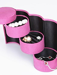 Toonykelly® 3 Layer Pink Jewelry Display Storage Pack Box(Pink)(1PC)