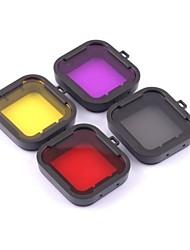 Аксессуары для GoPro,Погружение фильтр Фильтр линзыДля-Экшн камера,Gopro Hero 2 Gopro Hero 3+ Дайвинг 4pcs Пластик