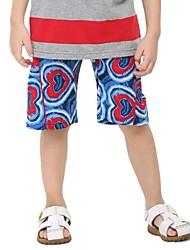 kindermode broek casual broek voor de baby leuke borduursels zomer shorts willekeurige afdruk