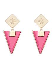 Sybal Women's Modern Statement Geometrical Earrings
