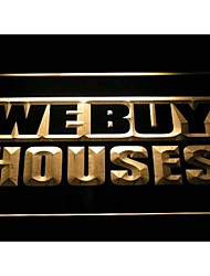 i1010 We Buy Houses Agency Shop Neon Light Sign