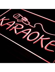 karaoke i444 nova caixa de salão do clube do logotipo neon sinal de luz